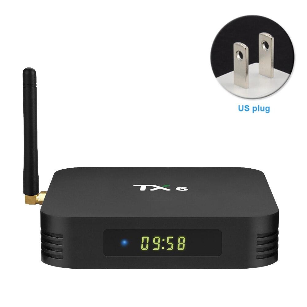 TX6 Home haute définition Bluetooth film TV Box avec télécommande lecteur de réseau Audio facile à installer pour Android 9.0 numérique