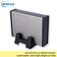 DIY metal box for electronic project junction box Power supply aluminium enclosure aluminium extrusion case 220*165*51mm