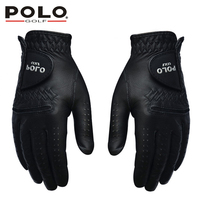 POLO Golf Gloves Left and Right Hand Genuine Leather Men Glove Suede Leather Antiskid Soft Breathable Sports Gloves Accessories