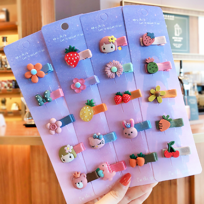 5/10 Pcs/Set Children Cute Candy Cartoon Fruit Flower Ornament Baby Hair Clips Girls Lovely Hairpins Kids Hair Accessories