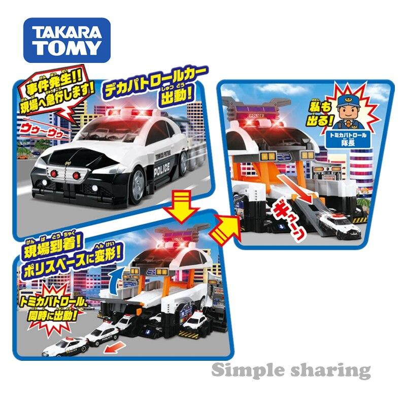 Takara tomy tomica деформационная полицейская патрульная машина, игрушка для литья под давлением, Развивающие детские игрушки, горячая поп машина, безделушка, модель, набор, коллекционные вещи - 2