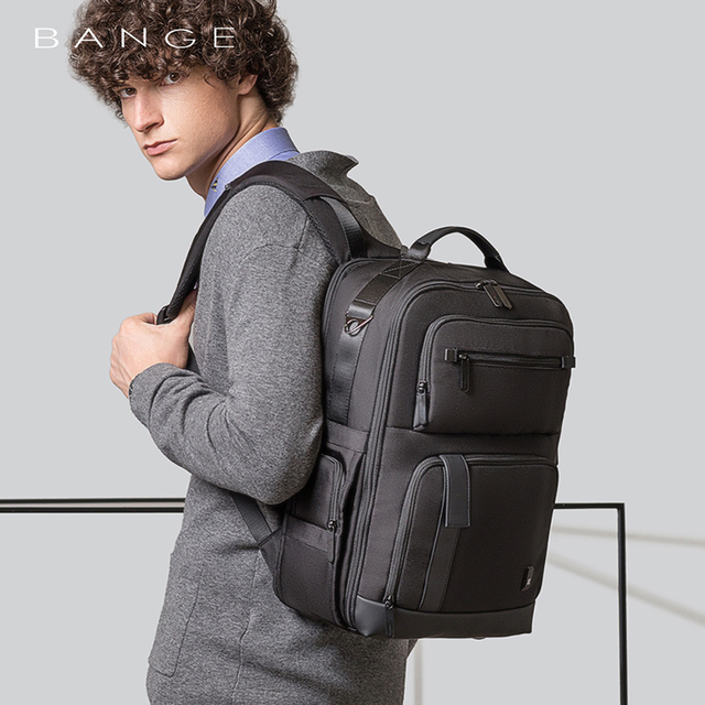 BANGE Men Business Backpack High capacity Waterproof Travel Backpack 15.6'Laptop Backpack School Bag Office Men Backpack 1