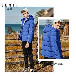 Image 5 - SEMIR зимняя куртка мужская 2020 Новинка, теплый пуховик 80% пуховик на утином пуху куртки свободного покроя из водонепроницаемого материала с капюшоном плотная верхняя одежда, пальто для мужчин
