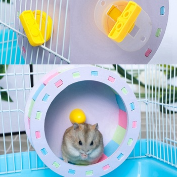 Pet Sports Fitness Hamster Running Wheel Hamster Jogging Wheel DIY Mute Color Funny Running PVC Disc Toy Hamster Pet Products 2