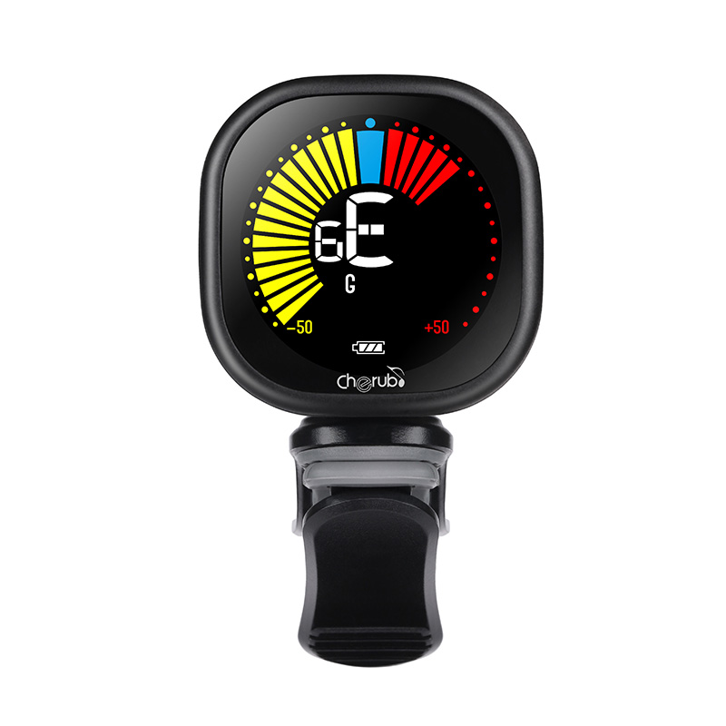 Cherub WST-670 Electric Guitar Tuner Pedal Clip On Mini LCD Display USB Tuners Rechargeable For Chromatic Guitar Violin Ukulele