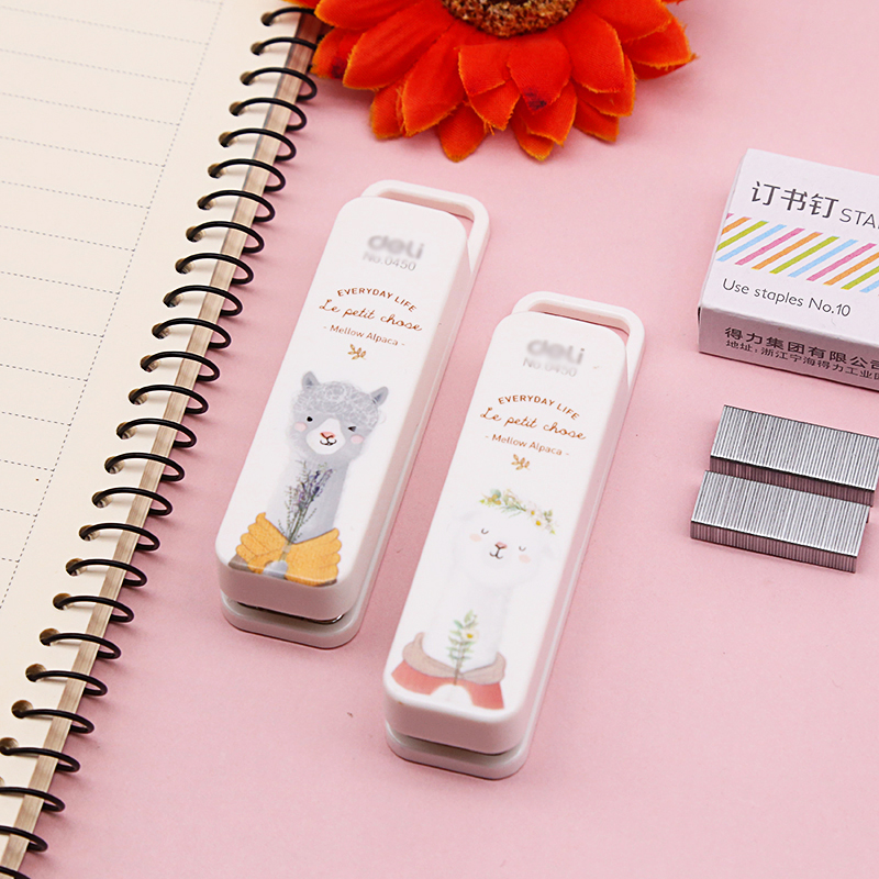 (1 Set/lot) Manual Mini Stapler 2 Colors Kawaii Staplers Set With Staples Stationery School Office Material Supplies (ss-1397)
