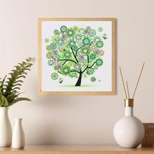 30 x30cm  Diamond Painting Colorful Tree Cross Stitch DIY Partial Multi-shaped Wall Decor Gift