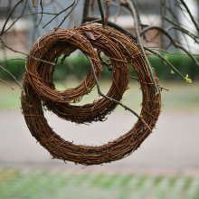 Wedding & Engagement Accessories Home Decor Natural Rattan Wreath Christmas Crafts Decoration Spring