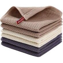 Kitchen Restaurant  Tea Napkin Honeycomb Waffle  Cotton Square Kitchen 13''×13''  Dishcloth Square Towel Tea Towel