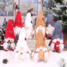 Noel yüzü olmayan Gnome Santa noel ağacı asılı süsleme bebek dekorasyon ev için kolye hediyeler damla süsler parti malzemeleri