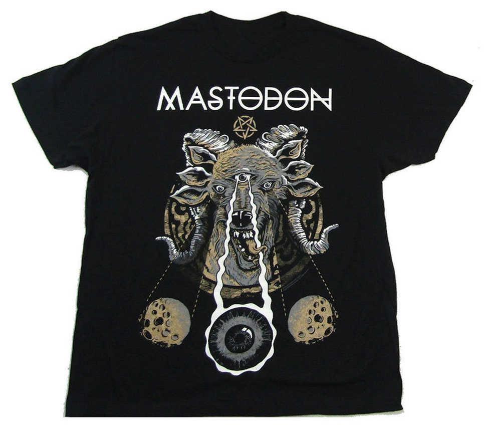 Mastodón-cabra rara 2020 Tour-camiseta negra Camiseta extragrande