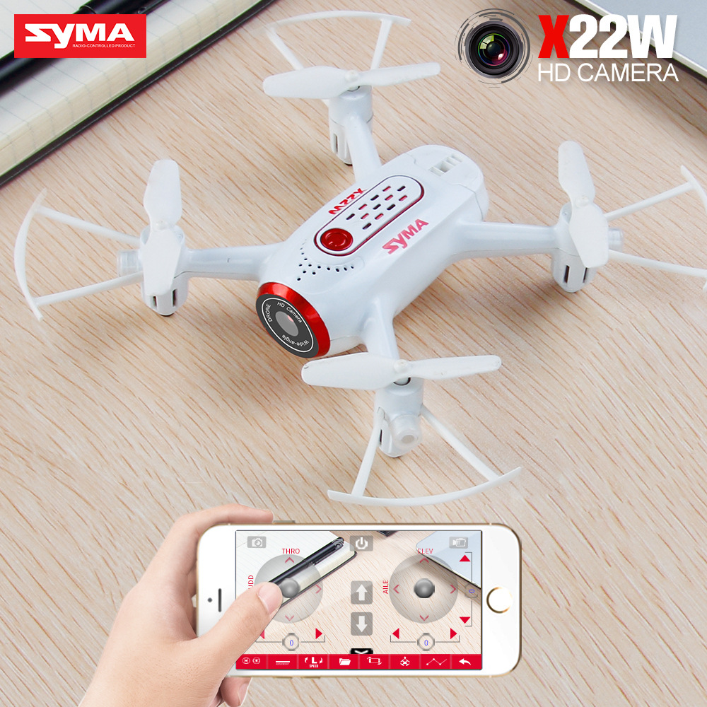 SYMA X22W RC Aircraft Real-time Transmission Quadcopter Mini Drone 640*480P Wifi Image Transmission RC Helicopter Toys for Kids