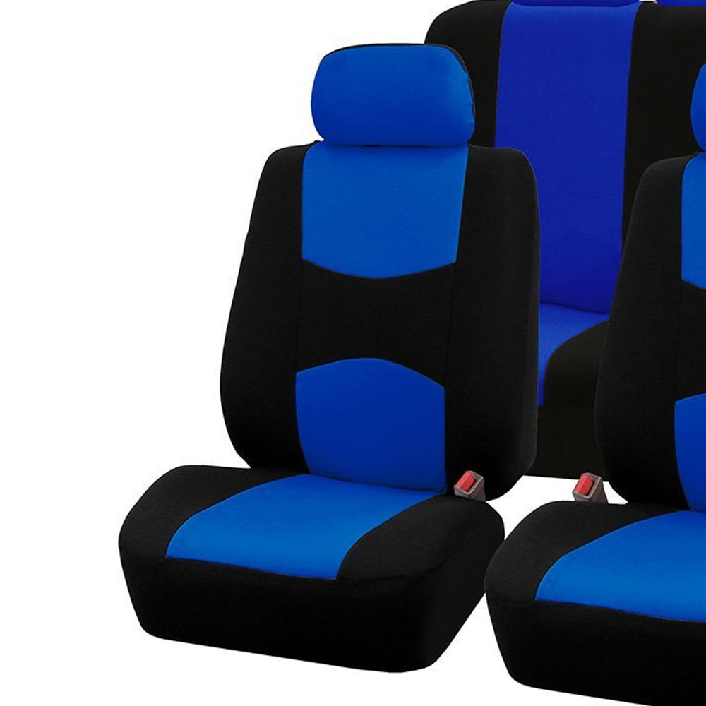 Replacement Seat Covers Kit Universal Car Vehicles Full Polyester Blue