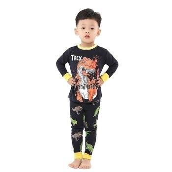 100 Cotton Boys and Girls Long Sleeve Pajamas Sets Children's Sleepwear Kids Christmas Pijamas Infantil Homewear Nightwear - P029, 2T