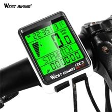 цена на WEST BIKING Bicycle Cycling Bike Computer For Bike Computer Cycling Waterproof Wireless Bicycle Goods Speedometer Accessories