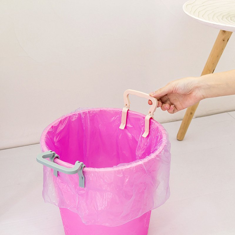 1PCS Creative Non-slip Plastic Garbage Bag Holder Clip Trash Bin Separator Household Separator Side Clip Household Items