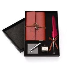 Набор Натуральных Перьев подарочный набор с акриловыми чернилами