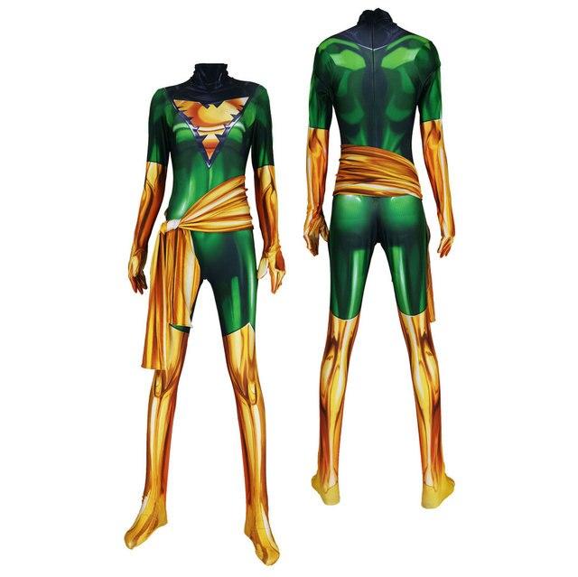X men Dark Phoenix Cosplay Costumes X men Jean Grey Suits Zentai Halloween Bodysuit Adults Kids