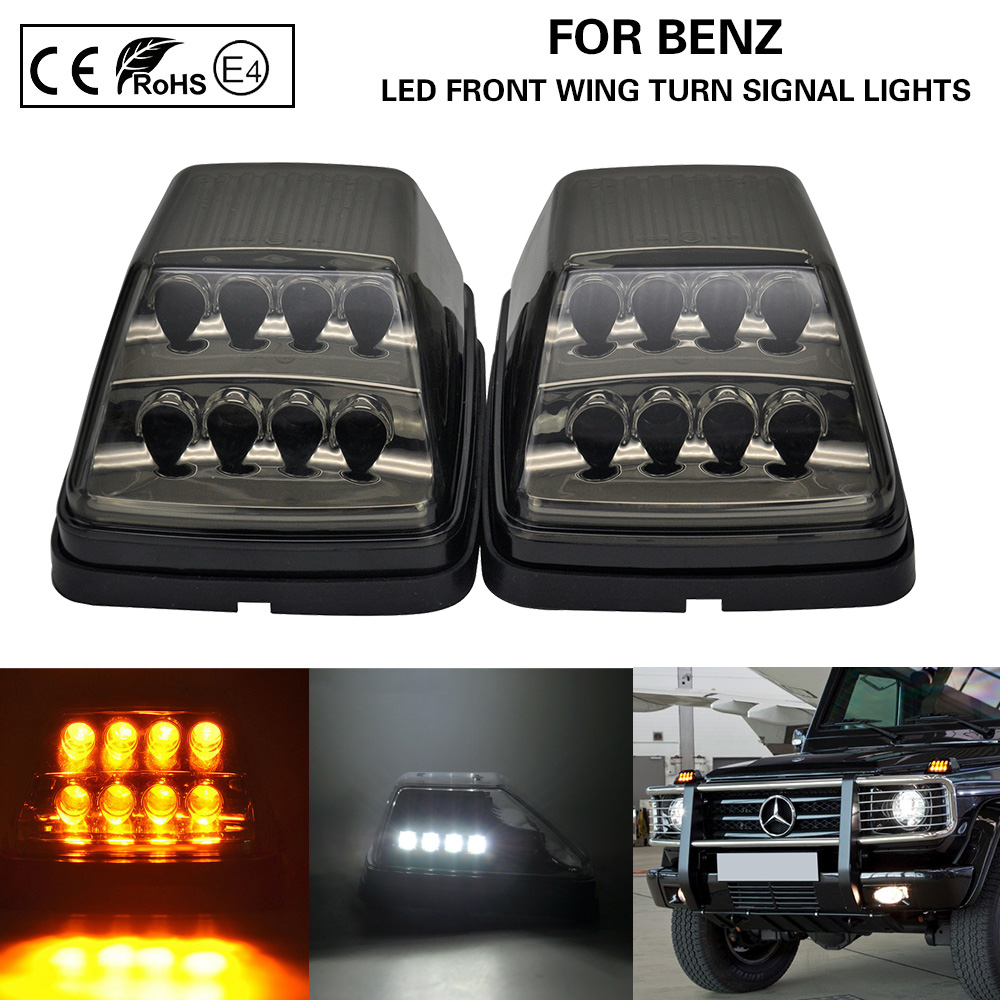 Dynamic Smoke LED Taillight Turn Siganl Lamp For 90-15 Benz W463 G500 G550 AMG