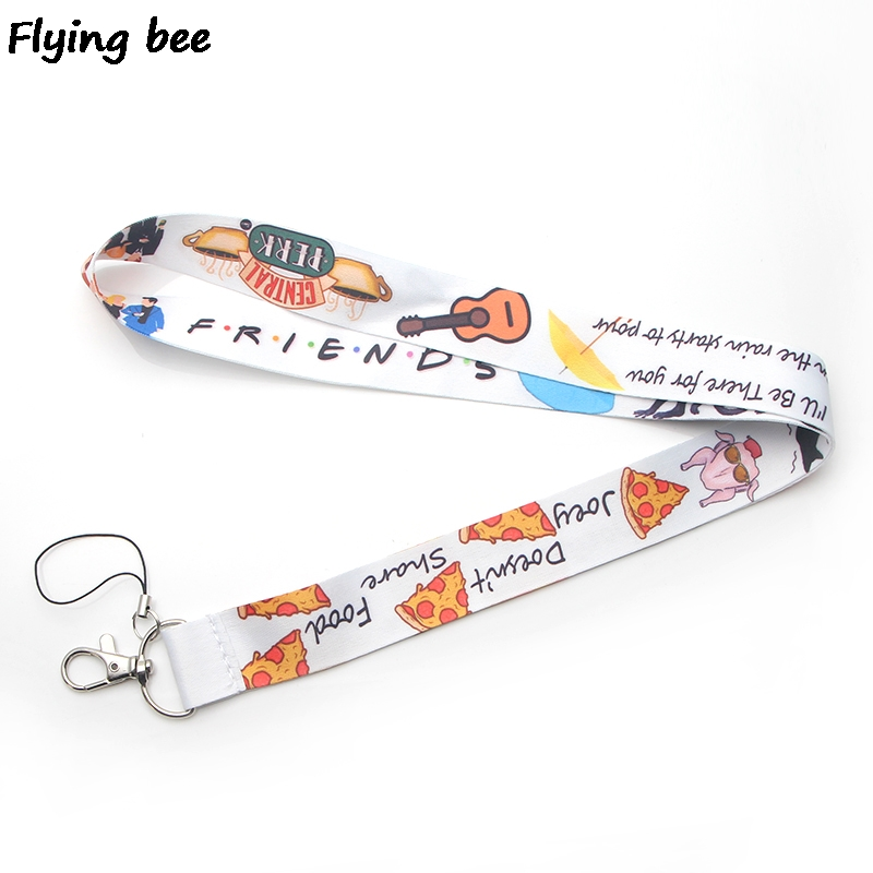 Flyingbee Friends TV Shows Lanyard Keychain Keys Holder Women Strap Neck Lanyards For Keys ID Card Phone Lanyard X0376