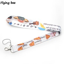 Flyingbee Friends TV shows Lanyard Keychain Keys Holder Women Strap Neck Lanyards for Keys ID Card phone lanyard X0376(China)