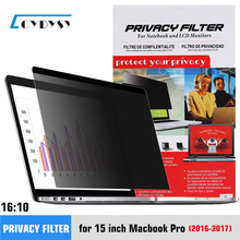 15 4 cal ekran zasłaniający filtr dla MacBook Pro A1707 A1990 laptopa tanie tanio CYDYSY 16 10 Pc notebooka for 2016 15 inch MacBook Pro Notebook privacy filter PET material Anti spy anti peeping Scratch-resistant