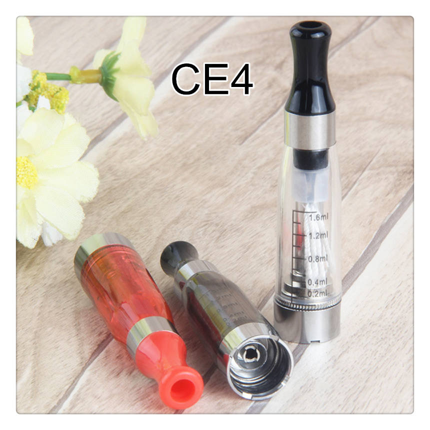 1Pcs 510 CE4 Atomizer E Cigarette 1.6 Ml EGo Ce4 Vaporizer For Ugo T Ego-t Evod Vape Pen 510 Thread Battery Ecigs 8 Colors