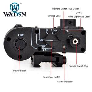 Image 4 - WADSN Softair Flashlight IR Lazer Red Dot Laser DBAL D2 Multifunction White Light DBAL MKII Tactical Battery Case Weapon Lights