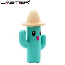 JASTER cactus usb flash drive pendrive 4GB 8GB 16GB 32GB 64GB pendriver USB 2.0 di memoria pollice del bastone di auto sveglio del regalo di trasporto libero