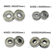 Pulley-Wheel Ball-Bearing Printers-Parts 625zz 688zz 10PCS Deep-Groove Flanged 3D