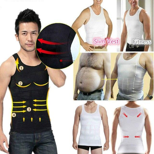 2019 hombres adelgazante moldeador de cuerpo barriga chaleco quemador de grasa modelado ropa interior corsé entrenador de cintura camisa de faja de músculo 1