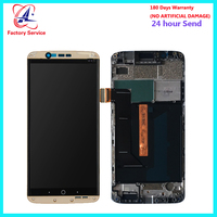 For ZTE Axon 7 LCD Screen Display+Touch Screen Digitizer Sensor Assembly Replacement With Frame For ZTE Axon 7 A2017 A2017U