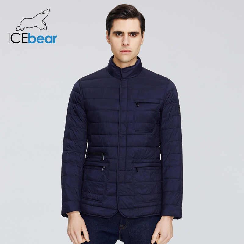 ICEbear 2020 새로운 남성 자 켓 봄 Windproof 얇은 코 튼 남자 자 켓 패션 캐주얼 자 켓 자 켓 브랜드 남자 자 켓 MWC20245D