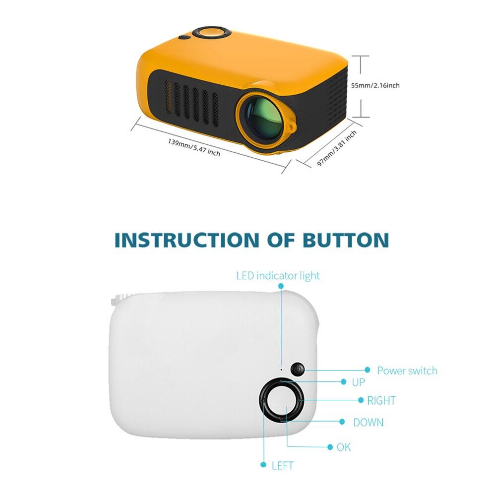 A2000 mini projetor 800 lumens 1080p lcd 50,000 horas de vida da lâmpada de cinema em casa projetor vídeo portátil-2