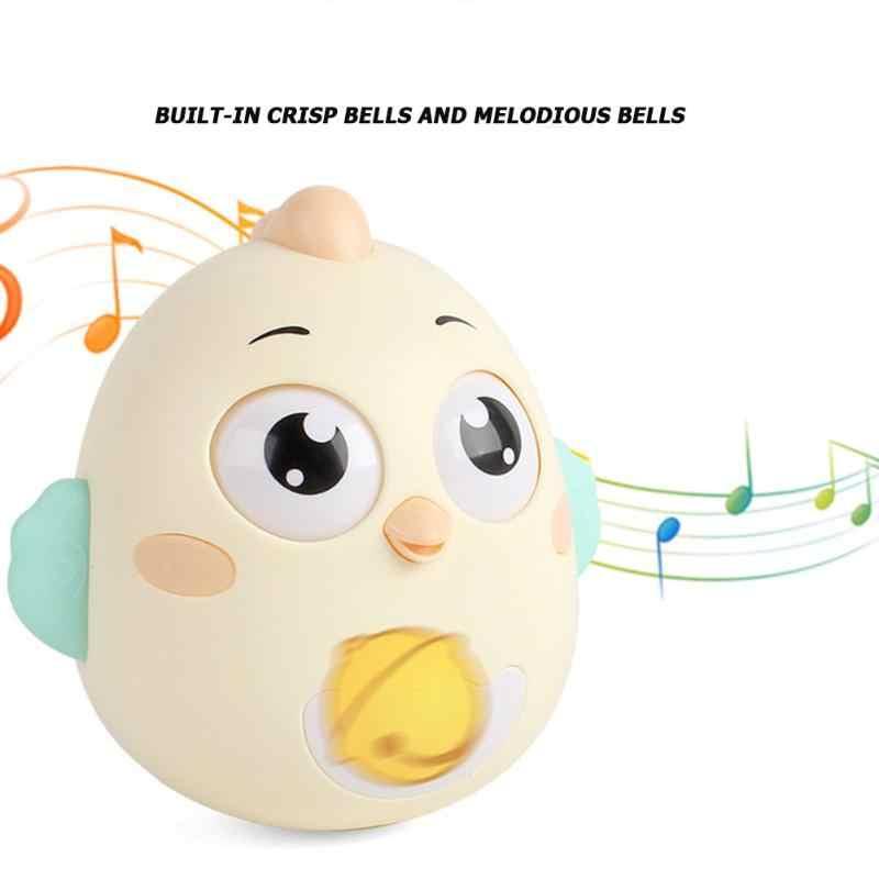 0-12 أشهر لعب الاطفال الرضع بهلوان عضاضة قصير ممتلئ الجسم راتل الكرتون لطيف الفرخ ألعاب الدمى الأطفال هدية