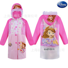 Disney Sofia Raincoat Children Mickey Minnie mouse frozen Elsa princess Kids Girls Rainproof Poncho Boys Rainwear Baby Rainsuit