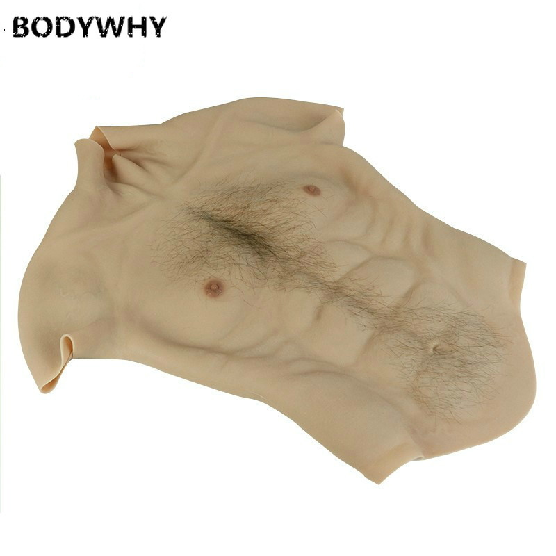 Realistic Fake Abdominal Muscle Belly Macho Realistic Silicone Artificial Simulation Pectoral Muscle Man Skin Up Body Fake Boobs