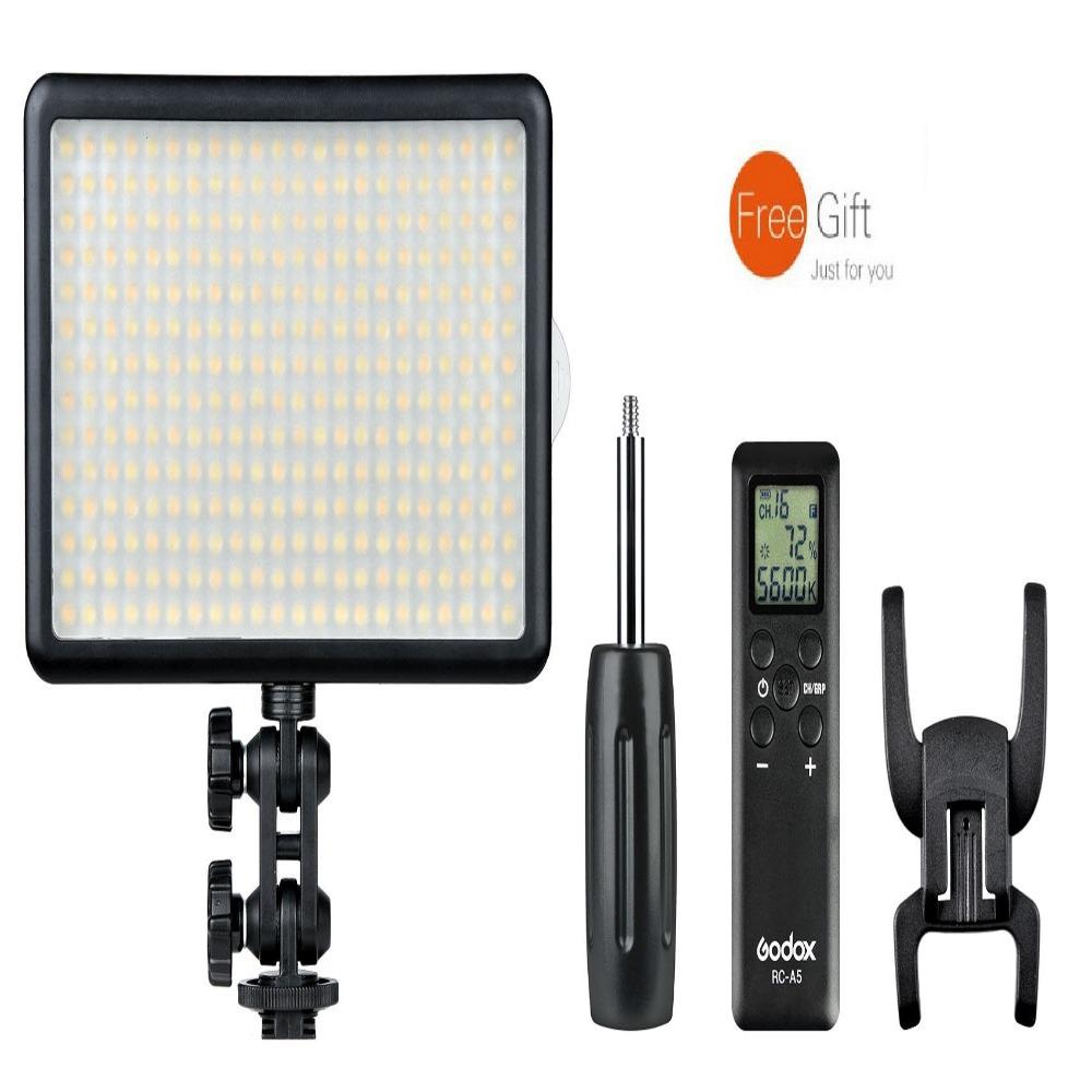 Godox  LED308Y/W/C Professional LED Video Light Yellow/White/Changable Light Beads QTY 308+ RC-A5 Power Remote Controller