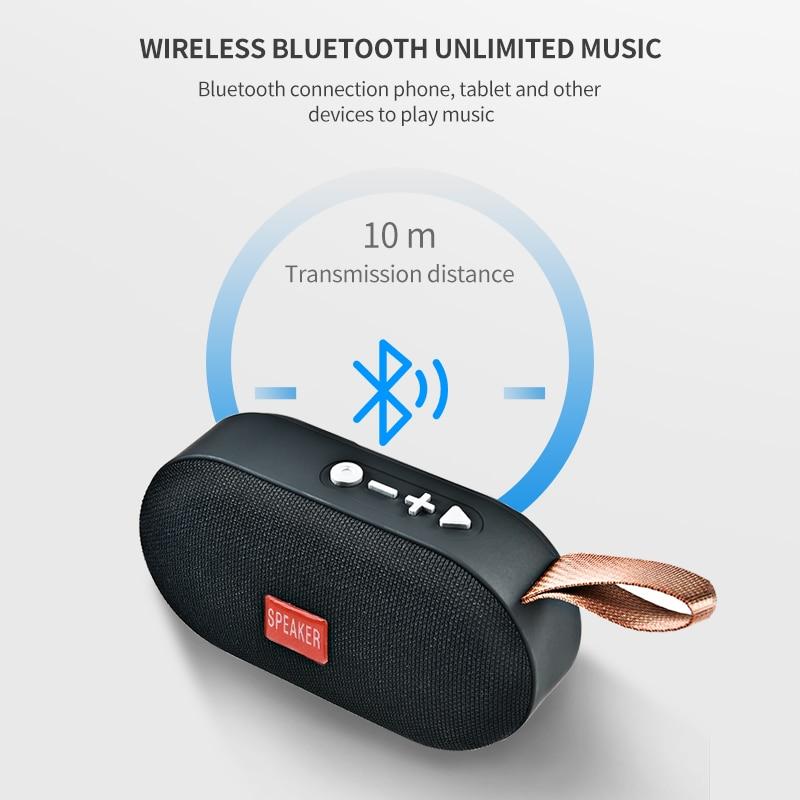 T7 Mini Bluetooth Speaker Portable Wireless Loudspeaker Sound System 3D Stereo Music Surround Outdoor Speaker Support FM TFCard 2
