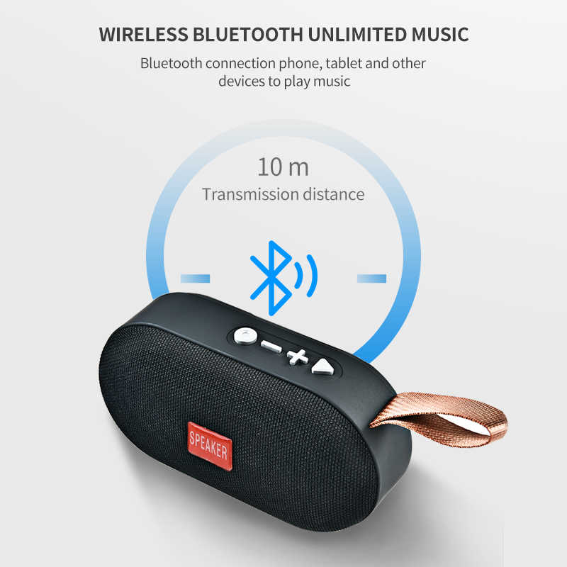 T7 Mini Bluetooth Speaker Minum Nirkabel Loudspeaker Suara Sistem 3D Musik Stereo Surround Outdoor Speaker Mendukung FM TF Card