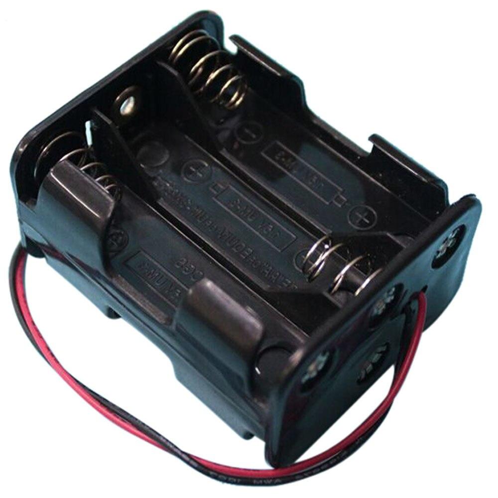 500 pçs/lote masterfire 6 aa 2a baterias de volta para trás titular caso caixa de armazenamento com fio leva 6 slots diy clipe bateria titular caixa
