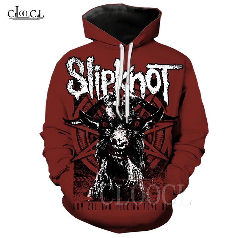 Slipknot Band Goat Sweatshirt Hoodie Men Women Hip Hop Streetwear 3D Print Heavy Metal Band Hoodie Plus Size Hoody Coat Pullover
