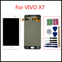 grassroot 17 3 inch lcd screen for aorus x7 dt v7 qhd 2560 1440 px tn matte non touch 120hz refresh rate replacement display For VIVO X7 LCD Display Touch Screen Tela Digitizer AssemblyPanel With Frame X7 LCD Replacement Accessories +tools