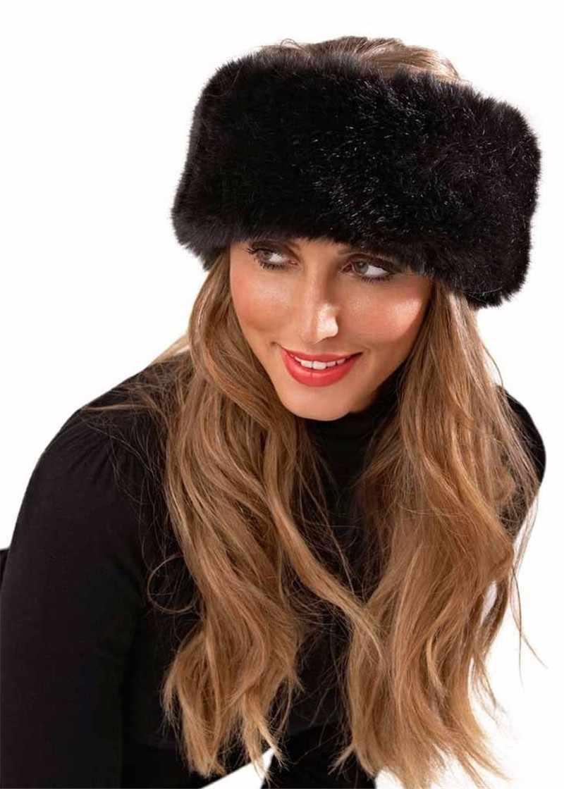 Womens Winter Hat Womens Hat Winter Hat Women Fur Earmuffs Faux Fur Ear Warmers Fur Headband Fur Hats for Women Ladies Woman