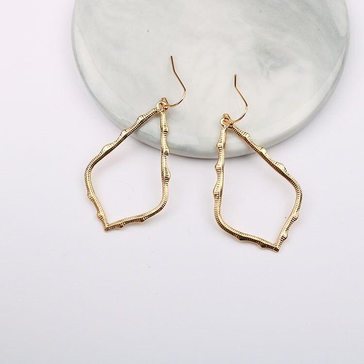 15 Colors Designer Frame Teardrop Earrings for Women Fashion Jewelry Painting Metal Water Drop Earrings Statement Earrings 11