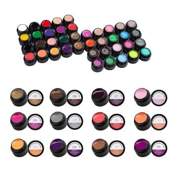 Juego de 12 botellas de esmalte de uñas de Gel de dibujo colorido línea de 5ml de laca de Gel UV para arte de uñas de pintura elástica gruesa