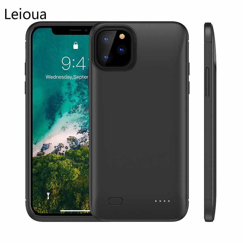 Leiouna 6200mAh تهمة بطارية غطاء ل iphone 11 شاحن الطاقة البنك الهاتف باور بنك لشحن البطاريات حقيبة لهاتف أي فون 11Pro 11Pro ماكس