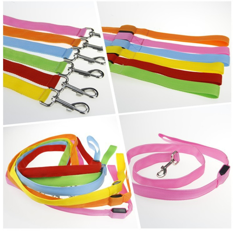 Dog Shining Hand Holding Rope LED Double-Sided Shining Multi-color Simplicity Dog Pulling Rope Shining Dog Rope Pet Supplies
