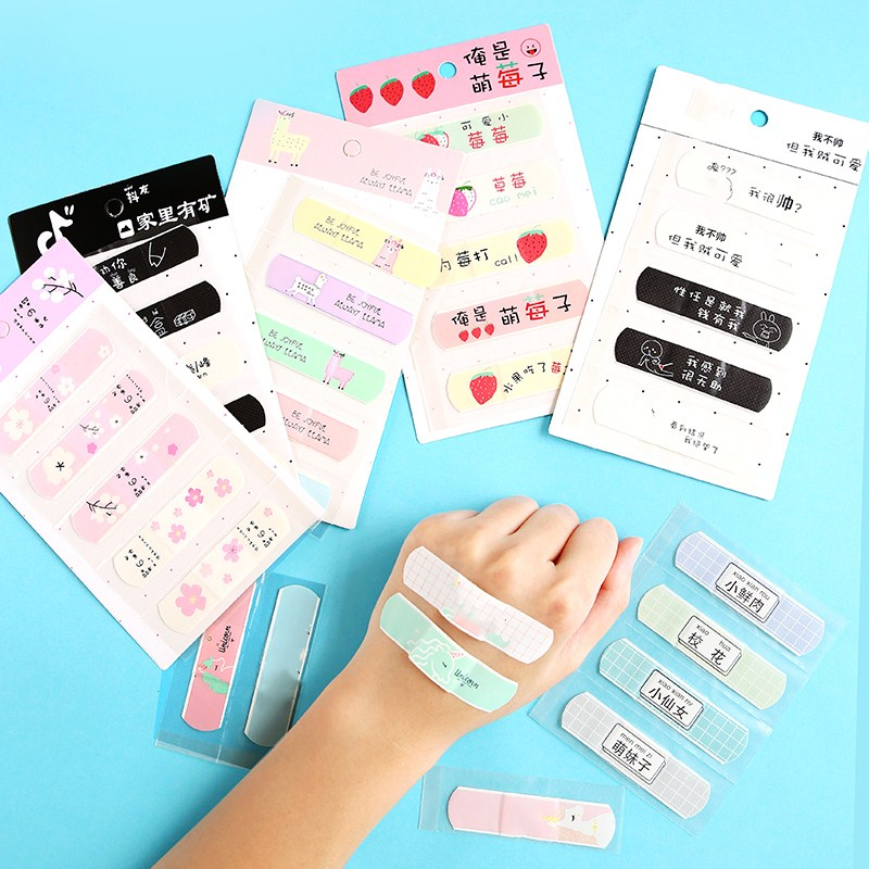 10 Sheets Cute Cartoon Band Aid Hemostasis Adhesive Bandages First Aid Emergency Kit For Kids Children Skin Care