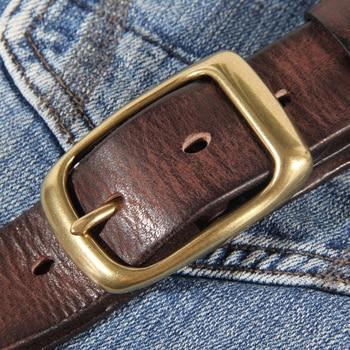 New Fashion Men's Leather Belt Leather Retro Handmade Belt Luxury Belt Genuine Leather Belt Jeans Wide Belt Men's Gift Harajuku 2